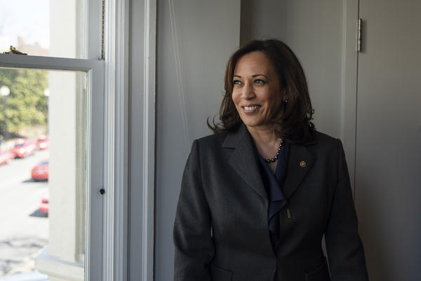 "Sen. Kamala Harris, a former prosecutor, says she was ""born realizing the flaws in the criminal justice system."" The California Democrat is not only seeking to become the first woman to be president, but the first black woman."