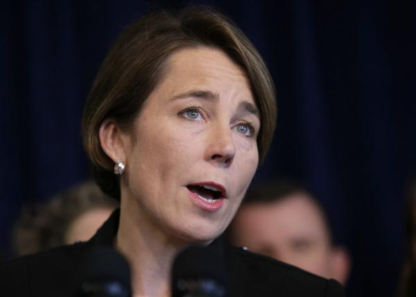 Massachusetts Attorney General MauraHealey takes questions from reporters during a news conference on Jan. 31, 2017, in Boston. (Steven Senne/AP)