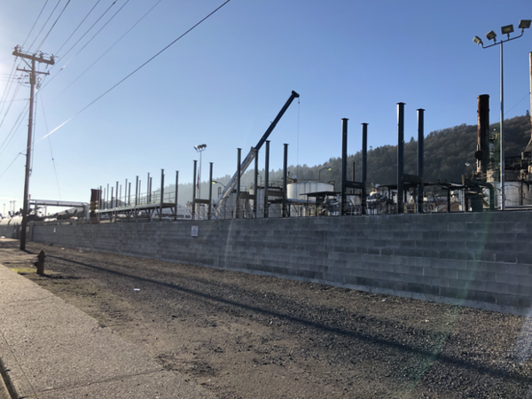 <p>Construction continues at the Zenith Terminals site in Northwest Portland in early February, 2019.</p>