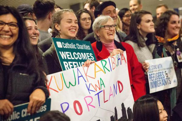 """<p>""""We definitely have a long history as a state of welcoming refugees and helping them rebuild their lives and make their homes here,"""" Matthew Westerbeck,of the resettlement group Catholic Charities, said of Oregon.</p>"""