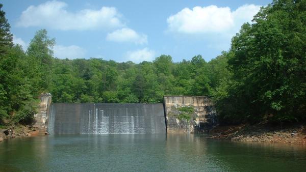A dam in Oconee County, South Carolina.