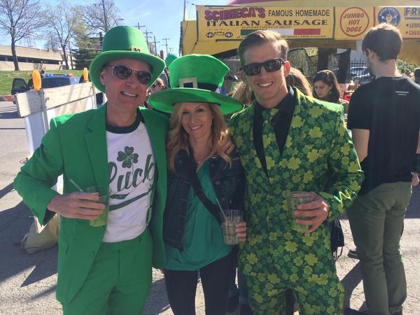 Kansas City residents celebrate on St. Patrick's Day.