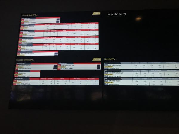 Connecticut could soon join states like Rhode Island in the legalized sports betting realm. This picture features a board of betting lines inside Twin River Casino in Lincoln, RI.