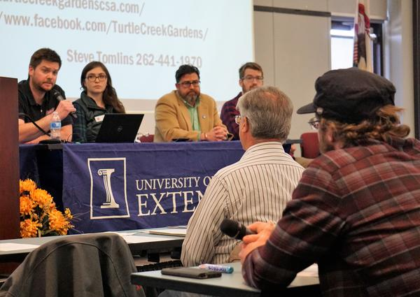 Panel Q & A at the U of I Extension's Hemp Conference in Freeport