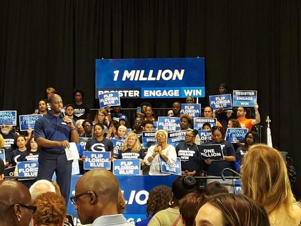 Andrew Gillum spoke in Miami Gardens, Wednesday, March 20, 2019.