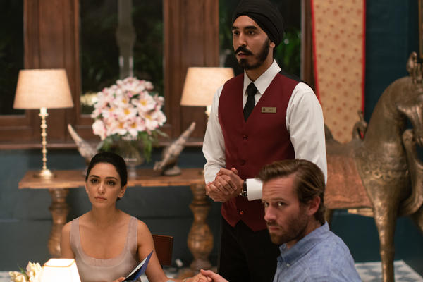 Nazanin Boniadi, Dev Patel, and Armie Hammer star in <em>Hotel Mumbai, </em>a docudrama about the 2008 attack on the Taj Mahal Palace Hotel.