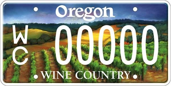 Washington state may soon offer a wine-themed license plate similar to the popular one Oregon issues.