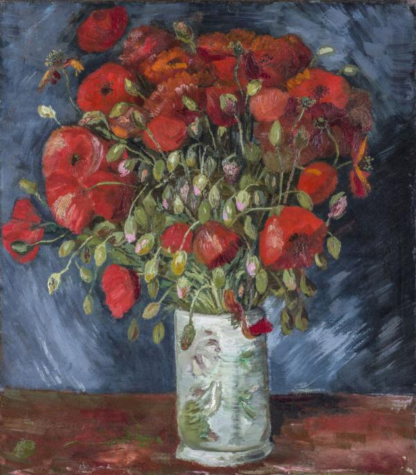 Vase With Poppies, now authenticated as a Van Gogh