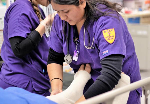 Dodge City officials want students at the local community college, such as these nursing students, to have more options for pursuing bachelor's degrees without leaving town.