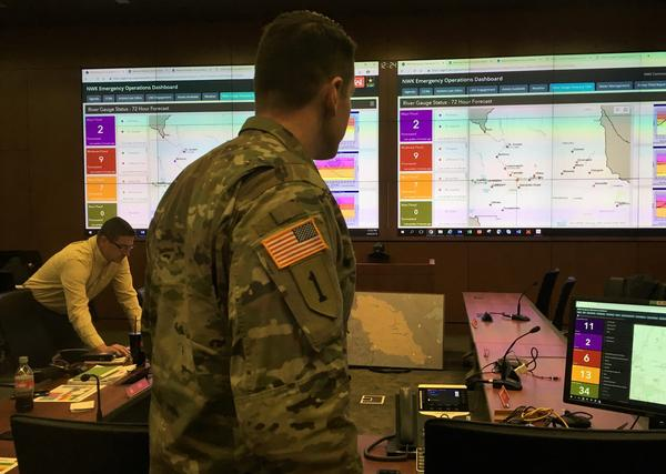 The Army Corps of Engineers Kansas City District Emergency Operations Center