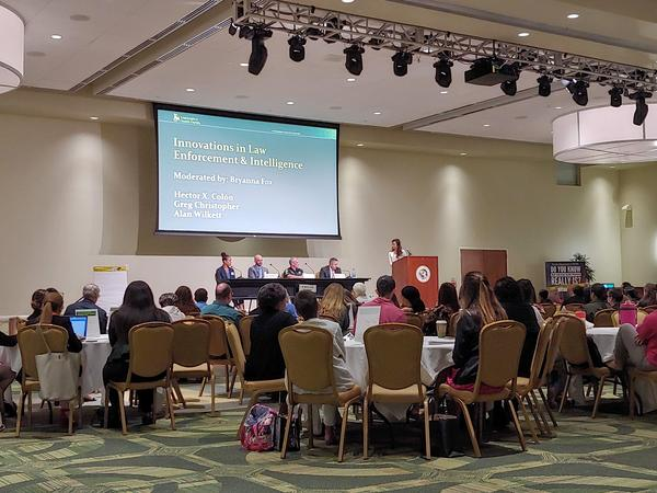 Law enforcement panel on human trafficking at the University of South Florida.