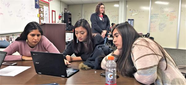 Students take a U.S. history class that also counts toward college credit at Liberal High School.