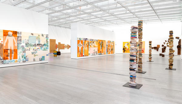 "Robert Rauschenberg's <em>The 1/4 Mile</em> or<em> 2 Furlong Piece</em> roughly spanned the length of his commute. It is <a href=""https://www.lacma.org/art/exhibition/rauschenberg-14-mile"">now on view</a> at the Los Angeles County Museum of Art — exhibited in its entirety for the first time."