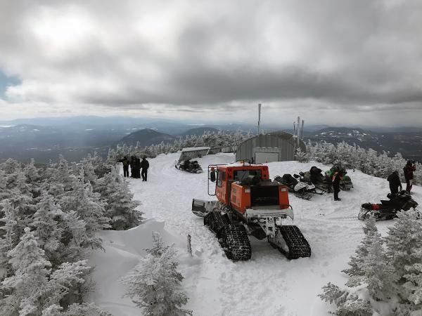 The view from the peak of Coburn Mountain in western Maine.