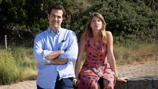 Rob Delaney and Sharon Horgan play a couple dealing with the stresses of marriage in the Amazon Prime series <em>Catastrophe</em>. Delaney and Horgan also co-created and co-wrote the series.