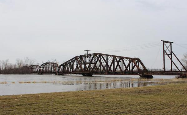 Rising waters breached levees along the Missouri River in late March.