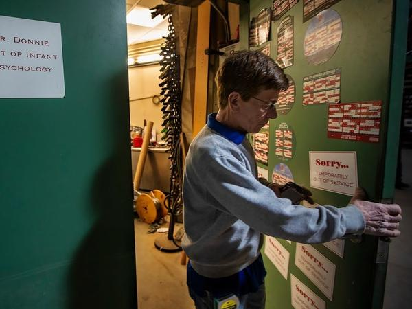 Donnie Gardiner works behind the scenes at Fenway Park to keep the ballpark operating smoothly.