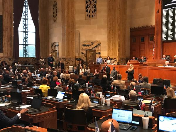 Governor John Bel Edwards addresses the state Legislature at the beginning of the 3rd special session in 2018.