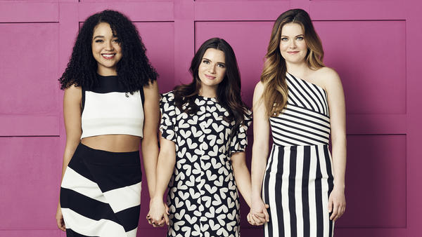 <em>The Bold Type</em> stars Aisha Dee as Kat Edison, Katie Stevens as Jane Sloan, and Meghann Fahy as Sutton Brady — three friends working at a women's magazine in New York City.