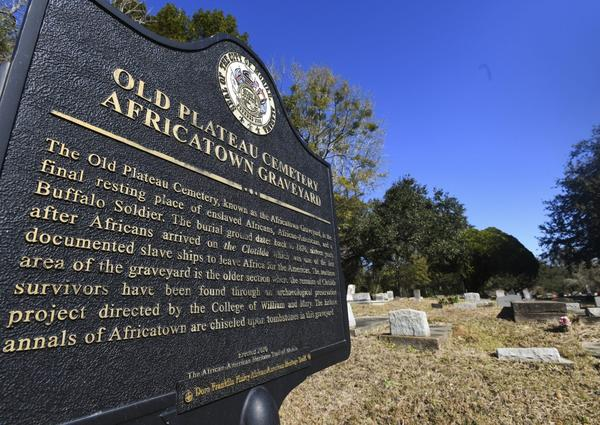 Many of the survivors of the slave ship Clotilda's voyage are buried in Old Plateau Cemetery near Mobile, Ala. (Julie Bennett/AP)