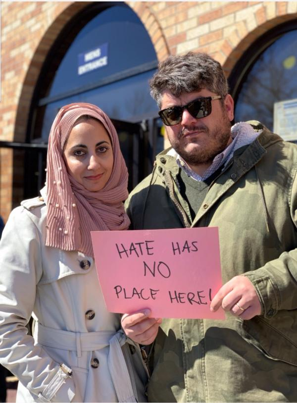 Iman Jodeh of Colorado Muslim Society and Zach Rolf of Temple Emanuel