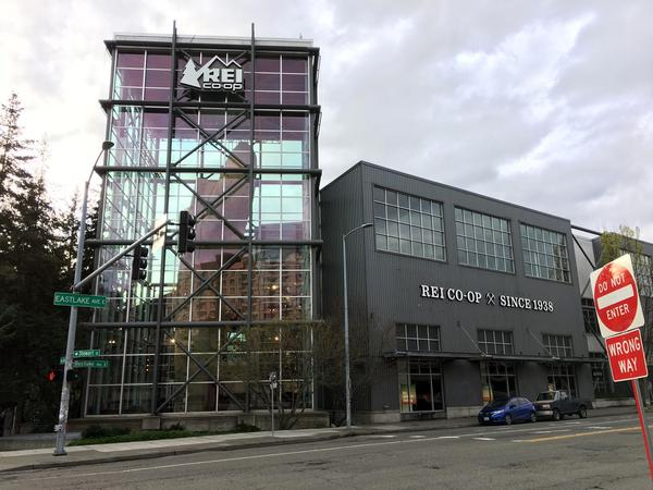 REI's flagship store is in downtown Seattle.