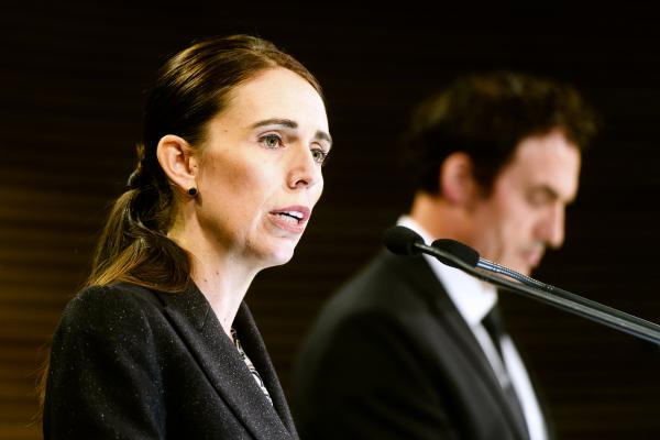 Jacinda Ardern, New Zealand's prime minister, speaks during a news conference in Wellington, New Zealand, on March 21. New Zealand has banned military style semi-automatics and assault rifles and will establish a nationwide buyback of the weapons as a result of the terrorist attack on two mosques that left 50 people dead.