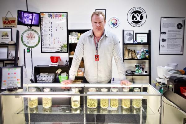 Andrew Heaton runs the medical marijuana dispensary WTJ MMJ Supply in Colorado Springs. He said he believes legal recreational marijuana in the city could deter active duty soldiers from using pot.