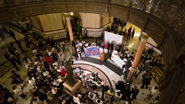 Survivors of crime rallied Thursday at the Illinois Statehouse. They were joined by Illinois Attorney General Kwame Raoul, Cook County State's Attorney Kim Foxx and other public officials.