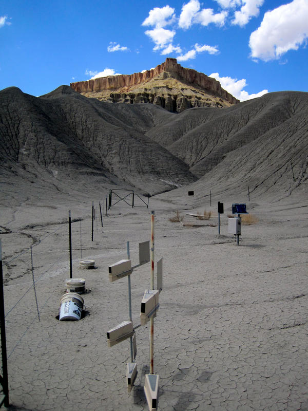Dust samplers placed by USGS researchers