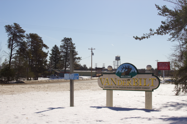 The Village of Vanderbilt is about 15 minutes north of Gaylord, Michigan.