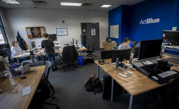 The ActBlue office in Somerville. (Jesse Costa/WBUR)