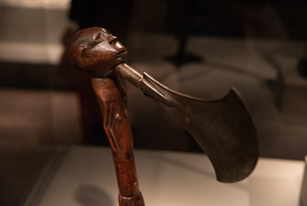 """This so-called """"power figure"""" from a Songye artist in what is now the Democratic Republic of the Congo was believed to have supernatural abilities. It's from the mid-to-late 19th century."""