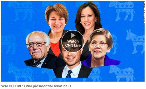 CNN hosted a five-hour long broadcast featuring interviews with five Democratic presidential candidates at St. Anselm College in Manchester Monday night.