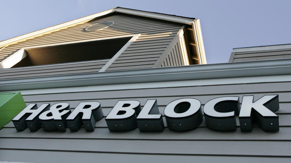 An exterior view of H&R Block is shown in Sunnyvale, Calif., in 2006. Co-founder Henry Bloch died Tuesday at the age of 96.