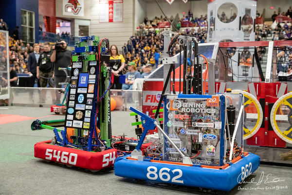 """""""What it looks like is a cross between a rock concert and any athletic sport, varsity athletic sport, that you could possibly see,"""" said Gail Alpert, president of the Michigan chapter of the FIRST Robotics Competition."""