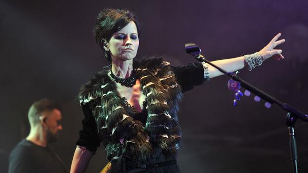 Dolores O'Riordan of The Cranberries performs on stage during the Cognac Blues Passion Festival in July 2016.