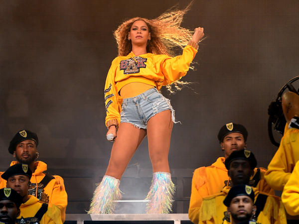 Béyonce performs onstage during the 2018 Coachella Valley Music And Arts Festival.