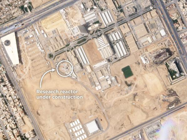 Satellite imagery from the company Planet shows construction of a small research reactor at the King Abdulaziz City for Science and Technology in Riyadh.