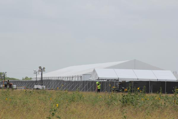 The migrant facility in Donna, Texas. It was constructed in 13 days.