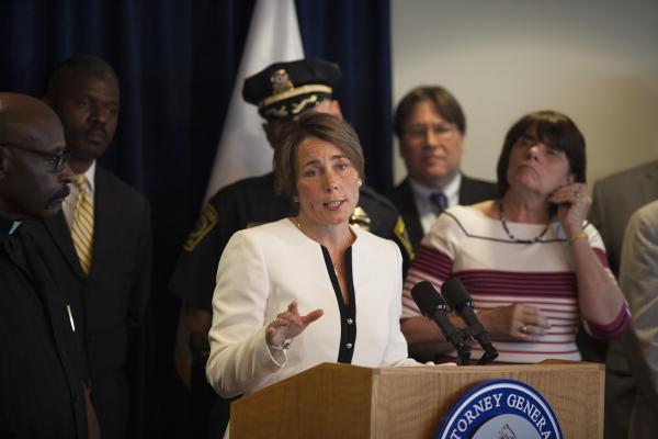 Attorney General Maura Healey, in a 2016 file photo (Joe Difazio for WBUR)
