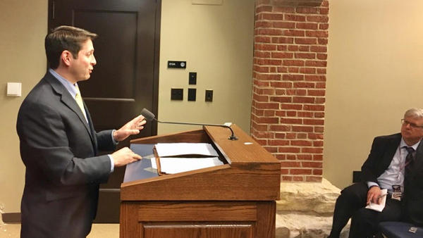 Bloomington state Sen. Jason Barickman has been an important Republican at the negotiating table for the legalization of recreational cannabis. But, he said he does not support the current proposal.