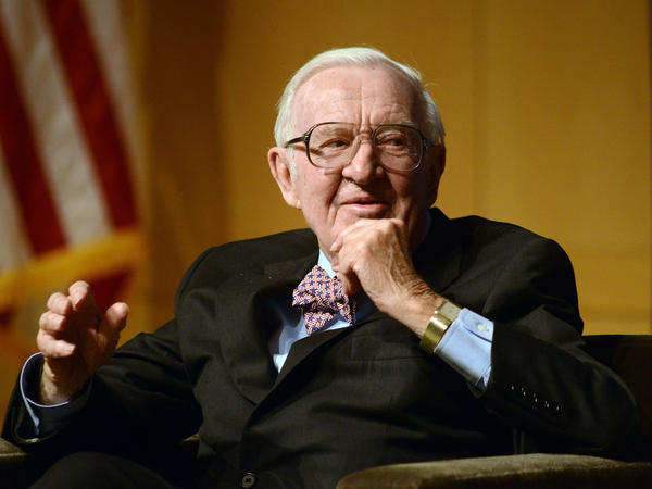 Retired Supreme Court Justice John Paul Stevens, pictured in 2014, says he can no longer get around the tennis court safely, but he can play a decent game of Ping-Pong.