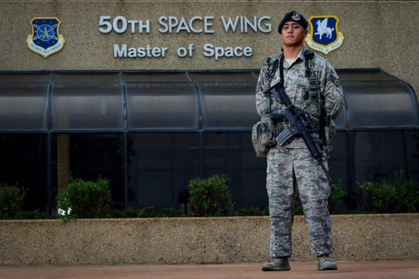 Staff Sgt. Eric Proctor of the 50th Security Forces Squadron is responsible for the security and protection of Air Force Space Command assets on Schriever Air Force Base in Colorado.