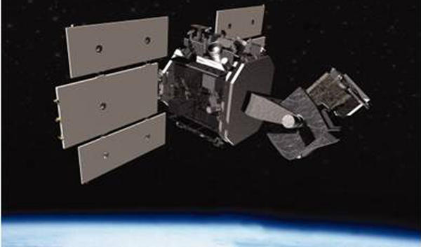 An artist's depiction of the Space Based Space Surveillance satellite, commanded by members of the 1st Space Operations Squadron based at Schriever Air Force Base in Colorado Springs, Colo.
