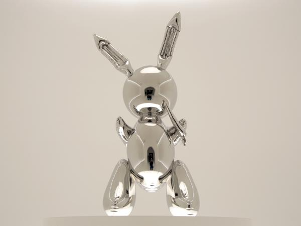 <em>Rabbit</em> by Jeff Koons was sold for more than $91 million at Christie's in New York on Wednesday night. It set a record for the most expensive work by a living artist to be sold at auction.