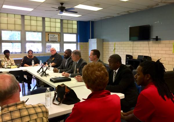 Dayton Community Police Relations organizers hosted Tuesday's meeting with police commanders.