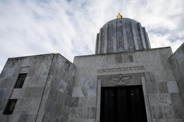 <p>The Oregon Capitol is pictured Wednesday, Feb. 20, 2019, in Salem, Ore.</p>