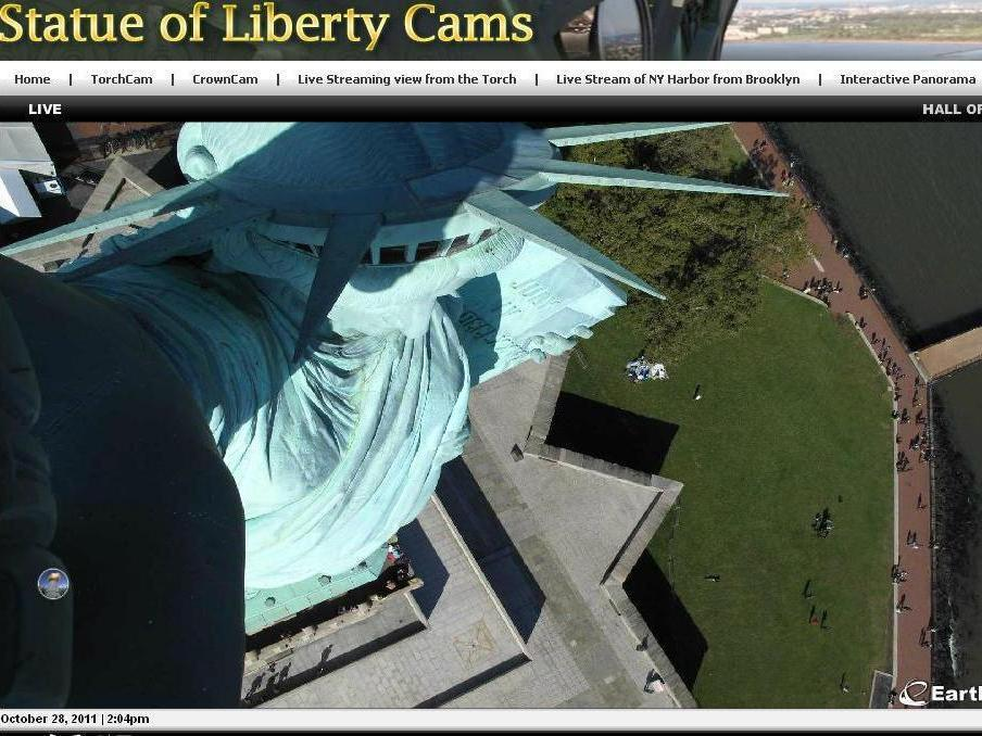 Freedom statue new york live webcam