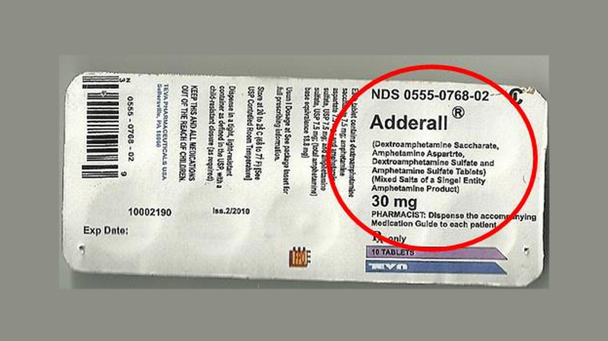 how does adderall cause depression